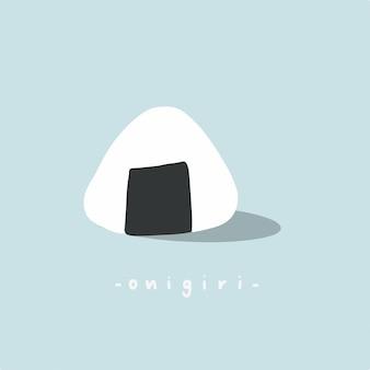 Onigiri symbol japońskie jedzenie ilustracja wektorowa
