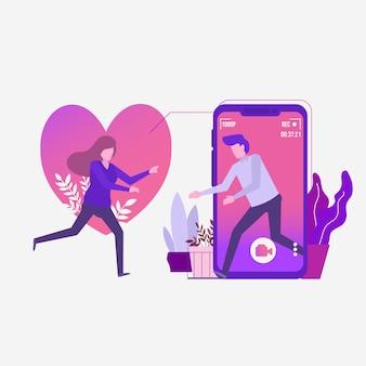 Online dating połączenie wideo za pośrednictwem aplikacji mobilnych