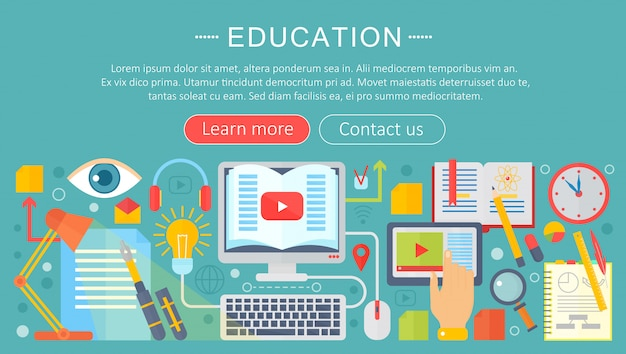 Online edukaci infographics szablonu projekt