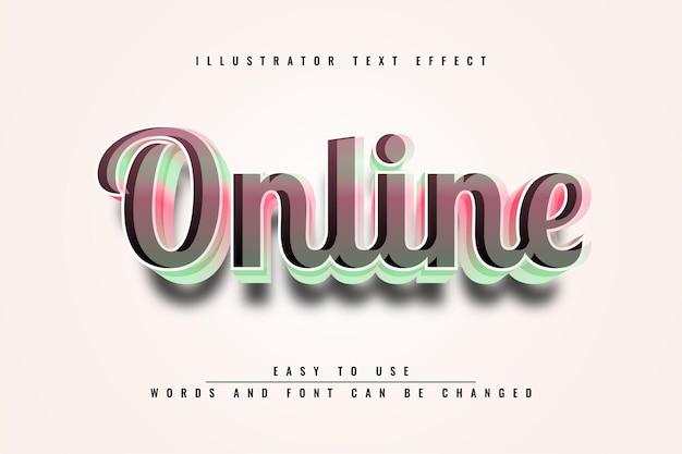 Online - edytowalny efekt tekstowy