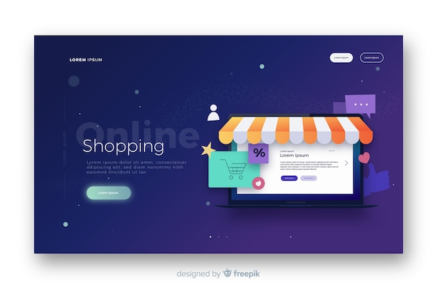 Online landing page