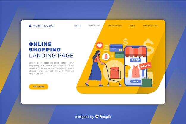 Online landing page