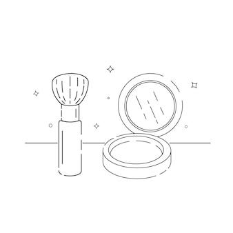 Opakowania kosmetyczne związane ikony zarys na białym tle wektor eps 10
