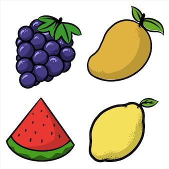 Opakowanie arbuza z winogron i mango