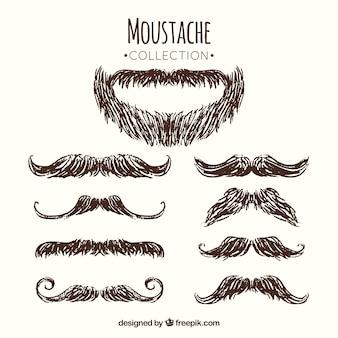 Opakowanie brody i wąsów szkice