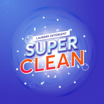 Opakowanie detergentu do prania dla super clean