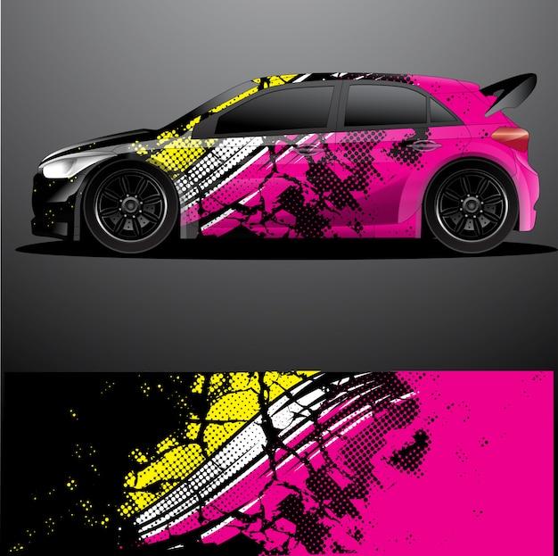 Opakowanie graficzne samochodu rajdowego