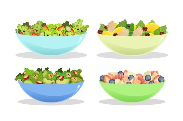 Opakowanie misek na owoce i sałatki