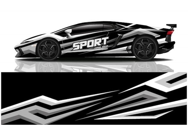Opakowanie na samochód sportowy, barwa samochodu