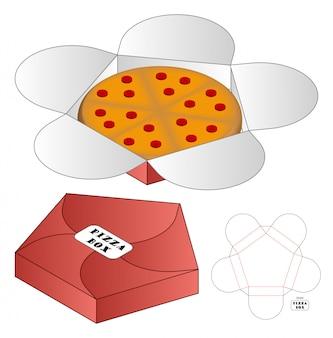 Opakowanie pizza box sztancowany szablon. 3d