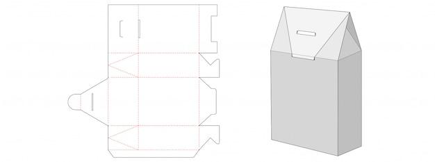 Opakowanie pudełko na prezent wycinany szablon
