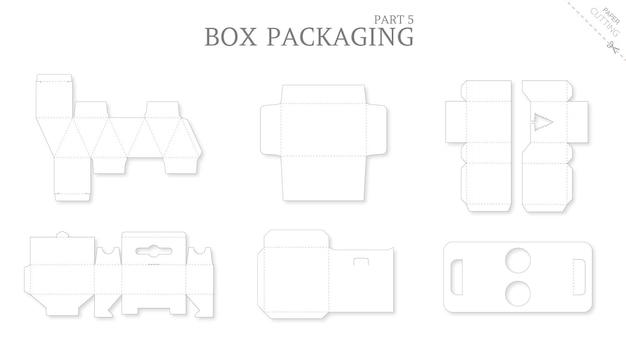 Opakowanie pudełkowe i pakiet szablonów wycinanych