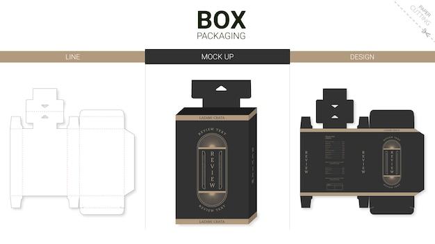 Opakowanie pudełkowe i szablon wykrojnika