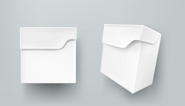 Opakowanie z białego papieru w pudełku herbaty na produkty