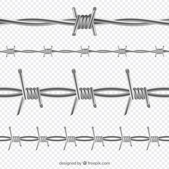 Opakowanie z drutu kolczastego