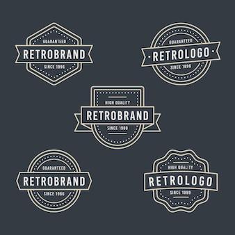 Opakowanie z logo retro