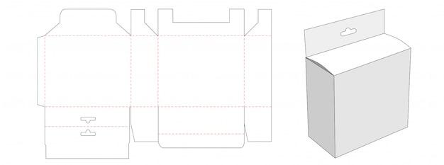 Opakowanie z szablonem wycinanym w kształcie dziury