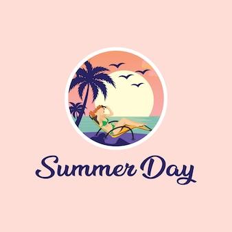 Opalanie się w letni dzień