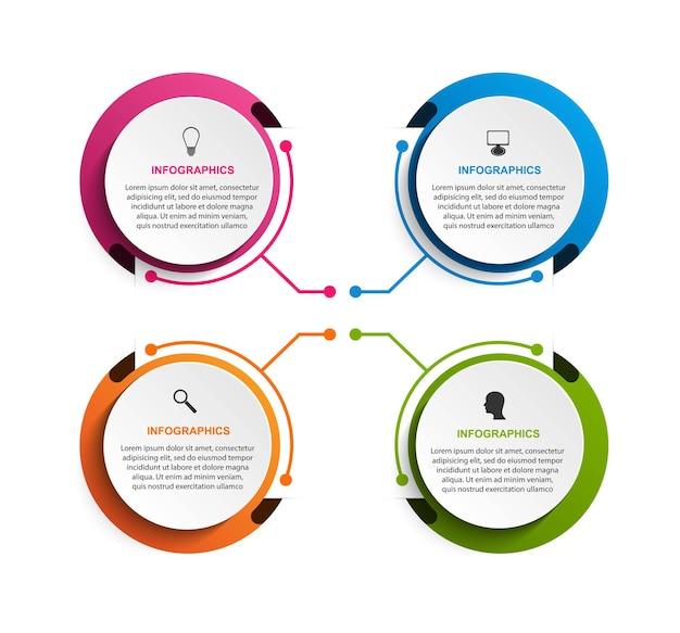 Opcje infografiki szablon infografiki