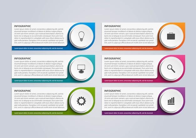Opcje szablonu projektu infografikę.
