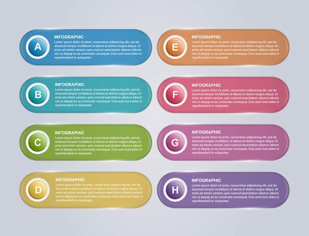 Opcje Szablonu Projektu Infografikę. Premium Wektorów