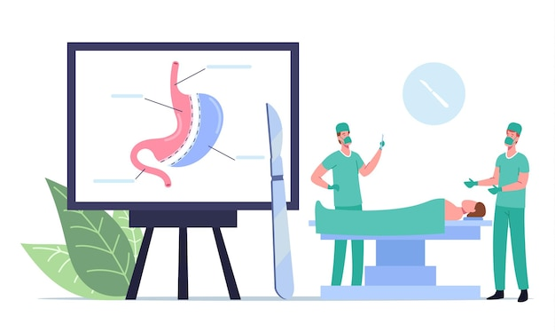 Operacyjna medyczna procedura odchudzania