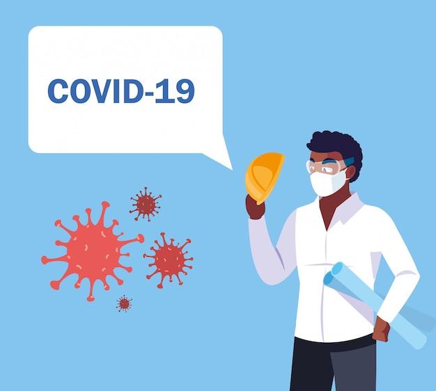 Operator przemysłowy obawia się zarażenia przez covida