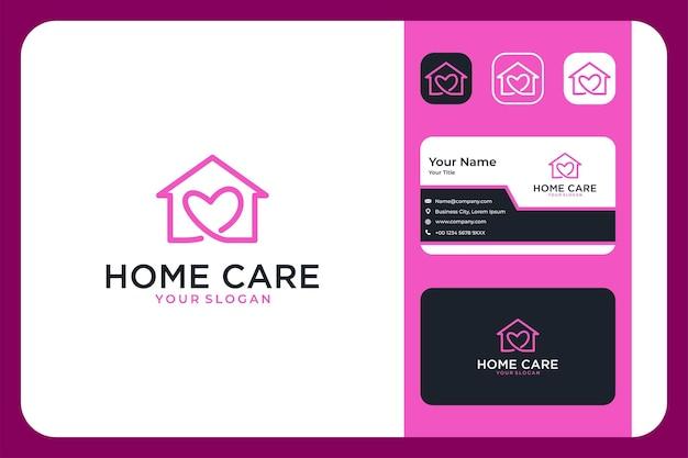 Opieka domowa z projektem logo miłości i wizytówką