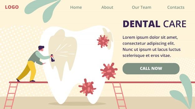 Opieka stomatologiczna nad dużymi białymi zębami do czyszczenia zębów.