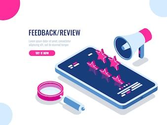 Opinie i recenzje na temat aplikacji mobilnej, wiadomości z rekomendacjami, reputacji w Internecie