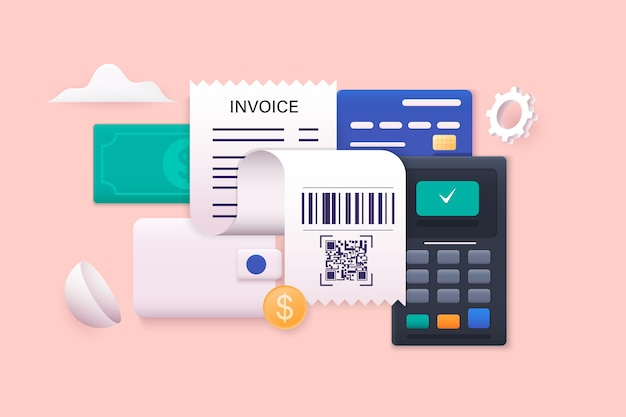 Opłacanie rachunków i podatków rachunki karty kredytowe i kalkulator finanse domowe i podatki koncepcja płatności