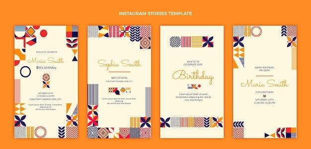 Opowieści urodzinowe z płaskiej mozaiki