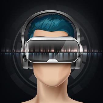 Optyczny wyświetlacz montowany na głowie lub okulary wirtualnej rzeczywistości