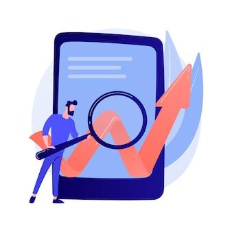 Optymalizacja oprogramowania mobilnego. rozwój biznesu, startup, proces uruchamiania. smartphone ilustracja koncepcja elementu płaska konstrukcja na białym tle