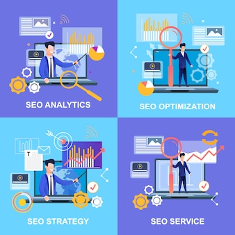 Optymalizacja seo analytics. usługa strategii seo.