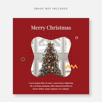 Opublikuj szablon projektu świątecznego na instagramie