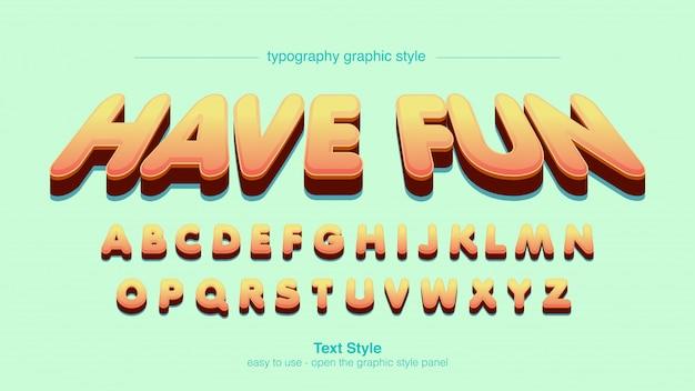 Orange cartoon comics perspective typography styl graficzny