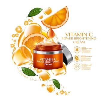 Orange fruit vitamin serum nawilżający kosmetyk do pielęgnacji skóry