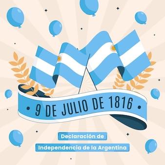 Organic flat 9 de julio - declaracion de independencia de la argentina illustration