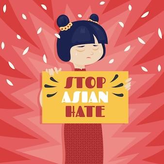 Organic flat stop asian hate