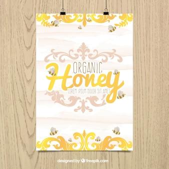 Organic honey plakat
