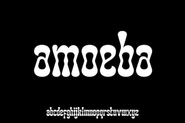 Organiczna czcionka z małymi literami idealna do brandingu lub projektowania znaków słownych