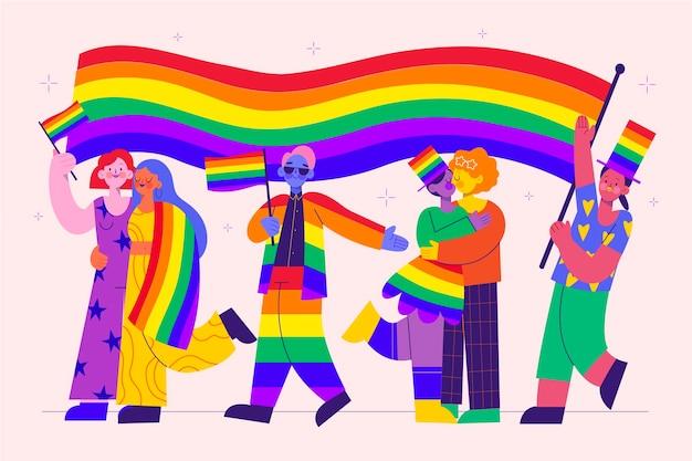 Organiczna kolekcja osób z płaskim dniem dumy