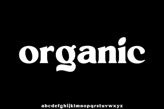Organiczna mała czcionka idealna do brandingu lub projektowania znaków słownych