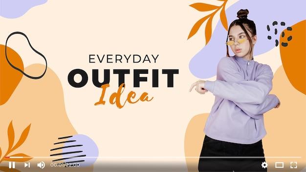 Organiczna płaska abstrakcyjna moda miniatura youtube