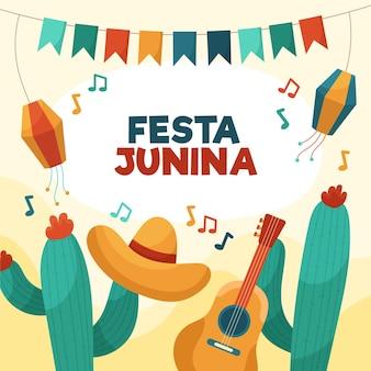 Organiczna płaska ilustracja festa junina