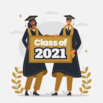 Organiczna płaska klasa ilustracji 2021