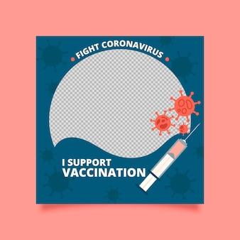 Organiczna ramka na facebooka z płaskim koronawirusem