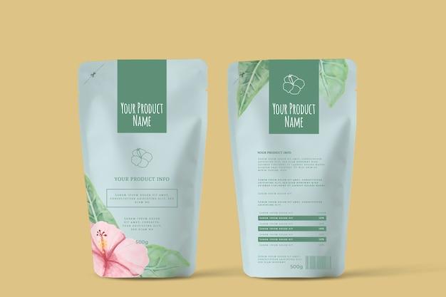 Organiczna reklama wiosennych kwiatów herbaty