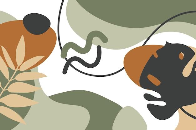 Organiczne kształty tła. nowoczesna i oryginalna tkanina, papier do pakowania, grafika na ścianę.